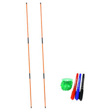 2 Pcs Portable Golf Alignment Sticks Practice Putting Rods Ball Line Liner