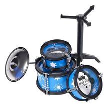 New DIY Child Kids Jazz Drum Rock Set Birthday Gift Music Educational Toy Blue