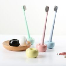 Creative Donut Ceramic Toothbrush Holder Multifunction Candy Color Base Frame