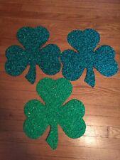 Set Of 3 St. Patrick'S Day Shamrock Popcorn Decorations.{2}Dark Green {1}Light