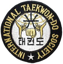 International Taekwon-do Society Patch Martial Art Embroidered Iron On Applique