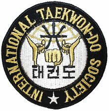 """International Taekwon-do Society"" Korean Martial Arts Iron On Applique Patch"