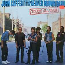 JOHN CAFFERTY & THE BEAVER BROWN BAND - Tough All Over - LP 1985 SIGNIERT