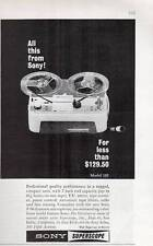1964 Sony Superscope Reel to Reel Model F-96 PRINT AD