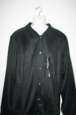 New Sean John 3XL 3X 3XB Button Up All Black Track Jacket Ship in 24hrs Coat