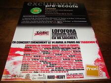 LOFOFORA - Publicité de magazine CA VA SAIGNER !!!!!!!!!!!!!!!