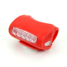 Bike Bicycle Cycling  7 LED Frog Silicone Safety Warning Front Lamp Head Light