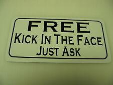 FREE KICK IN THE FACE Metal Sign Hockey Club Boxing Bar MMA Karate Martial Arts