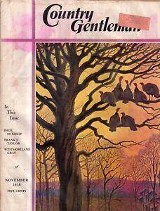 1938 Country Gentleman November - Texas revolts; North Dakota schools;E Gardner