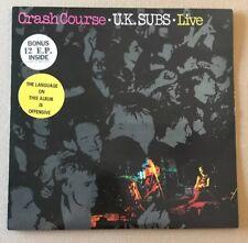 UK SUBS!!! CRASH COURSE!! 1ST PRESSING ORIG 1980 VINYL!  WITH BONUS EP!! RARE!!!