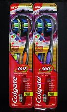 4x Colgate 360 Whole Mouth Clean Toothbrush SOFT Bristle MADE IN SWITZERLAND
