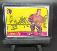 BOBBY HULL 1968-69 Topps Chewing Gum #16 - Chicago Black Hawks HOF * Damaged *