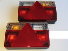 2 AJBA FP40 REAR LIGHT LAMP 6 FUNCTION -TRAILER PARTS TO FIT TO DAXARA ERDE