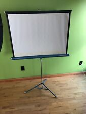 Vintage Da-Lite Movie Slide Projector Screen Tripod 40 X 40 White Flyer Made Usa