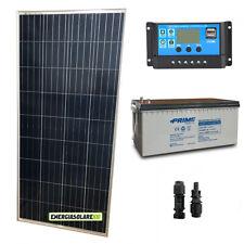 Kit placa solar panel fotovoltaico 150W 12V Batería 200Ah AGM Regulador de carga