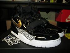 e31a6ad6f57bdc SALE AIR JORDAN LEGACY 312 PATENT LEATHER BLACK METALLIC GOLD WHITE AV3922  007