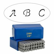 27 Steel Capital Alphabet Letter Stamp Punch Tools For Metal, Jewelry Blanks +