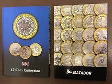 2018 Latest BLUE £2 Two pound Coin Hunt Collector Album Folder Perfect Gift