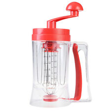 Manual Pancake Batter Dispenser Perfect Cupcakes Waffles Mixer Mix Breakfas
