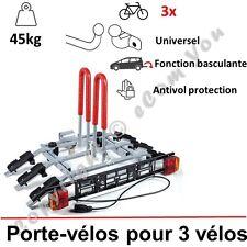 PORTE-VELOS SUSPENDU SUR ATTELAGE RABATTABLE POUR 3 VELOS | Porte-vélo