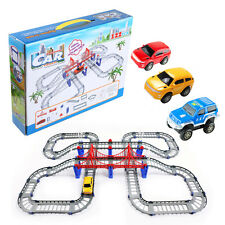 High Speed Slot Cars Electric Railway Train Railcar Toys Track Racing Car Set