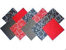"""40 5"""" Quilting Fabric Squares Caboose/ Dramatic !!!"""