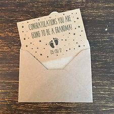 Pregnancy Announcement Cards, Kraft, 8 Pack, Vintage Rustic Country Chic