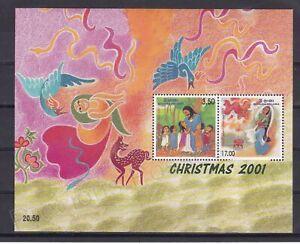 SRI LANKA MNH STAMP SHEET 2001 CHRISTMAS SG MS1561