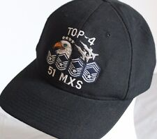 US Airforce 51MXS Baseball Hat Cap Top 4 Eagle Fighter Jets Stars Stripes