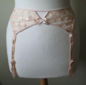 New L'Agent by Agent Provocateur Casie Suspender belt Large Nude