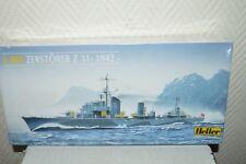 MAQUETTE BATEAU NAVIRE ZERTÖRER Z 31 1942 BY HELLER  NEUF 1/400 BOAT MODEL KIT