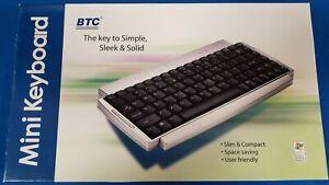 BTC Mini Keyboard - BTC 9118 PS/2 Black Keys