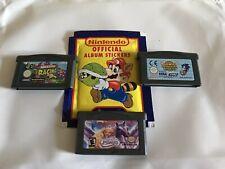 Lot 3 Jeux En Loose Nintendo Gameboy Advance+ 1 Paquet De Stickers No Paypal