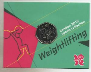London 2012 Olympic 50p Coin - weightlifting