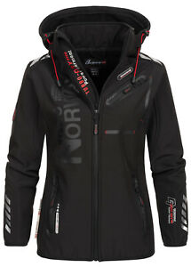 WU4010F/GN Geographical Norway Damen Reine Jacke Softshell Kapuze Patches