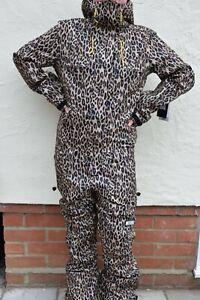 BNWT DC Shoes Vanguard Women's Ski-Jumpsuit, Colour Leopard Fade, Snow, RRP £349