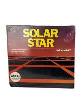 Vintage Solar Star Atari Game Microdaft New Disk Requires Disk Drive Joystick