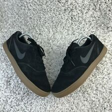 Nike SB Check Mens Shoes UK 8 Eur 42.5 Black Suede Leather Trainers