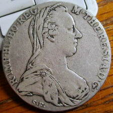 1780 SF Austria Burgau 1 Thaler Taler Dollar Silver Coin KM#22 Wt. 28g.