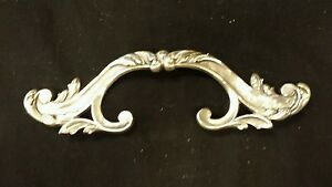 Vintage Victorian  decorative nickel plated brass Drawer handle pulls (up to 9)