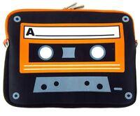 Foam Small Laptop/iPad/Tablet Case Carrier Cassette Tape Theme Zippered  B1