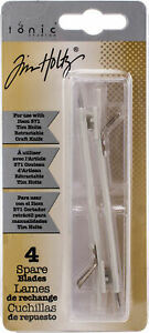 Tim Holtz Retractable Craft Knife Refill Blades 4/Pkg-For T371