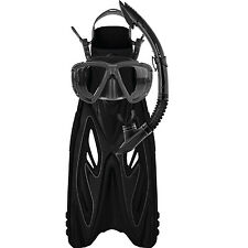 Mirage Rayzor Adult Snorkel Package Flipper Snorkel Mask BLACK L/XL LAST ONE