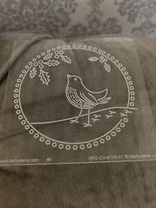 Groovi Parchment Embossing Plate - A Little Bird Told Me … Used.