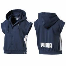 Puma Classics Sleeveless Logo T7 Womens Hoodie Blue 575495 50 A81E
