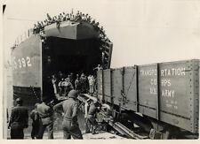 Photo Cherbourg British Navy Débarquement 1944