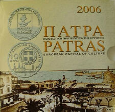 Greece Grece Grecia Griechenland BU 2006 KMS set 1 c - 2 e 10 EURO SILVER PROOF