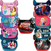 Childs Car Booster Seat Group 2/3 15-36 kg Disney Minnie Frozen Mickey Spiderman