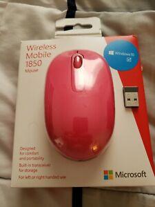 Microsoft Mobile 1850 U7Z-00062 Wireless Optical Mouse Magenta - BRAND NEW LOOK,