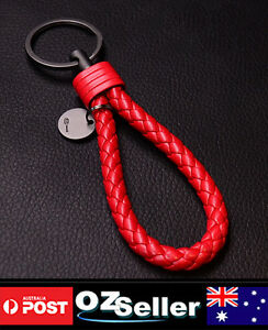 Fashion Braided Leather Key-Chain Purse Handbags Charm 8 COLORS